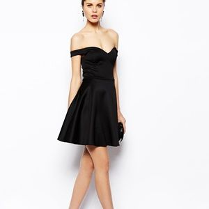 Scuba off the shoulder dress